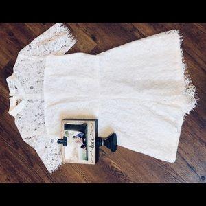 White lace MOD Boutique Romper